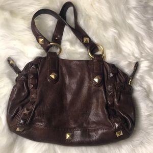 Linea Pelle brown leather Samantha purse